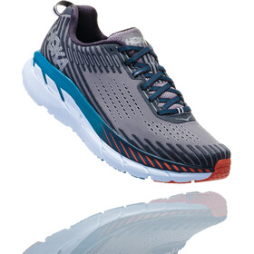 Hoka One One Clifton 5 Running Shoes Men Frost Gray/Ebony